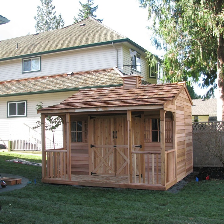 storage shed with patio would love this for tack room