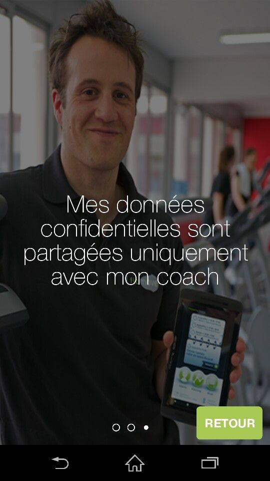 All the personal data stay confidential only between the person and his coach