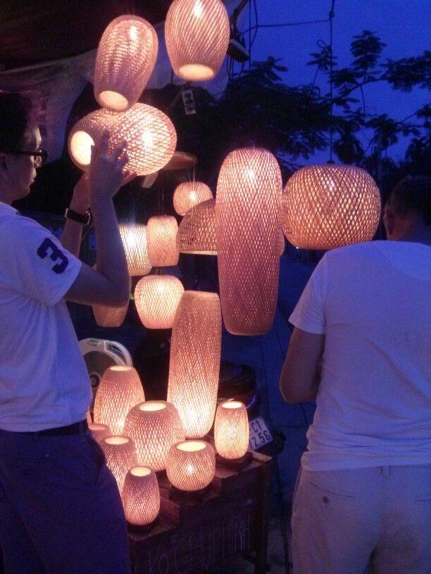 Bamboo woven lanterns