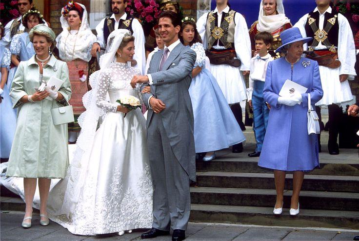 PRÍNCIPE GREGO PAVLOS E MARIE CHANTAL MILLER, 1995