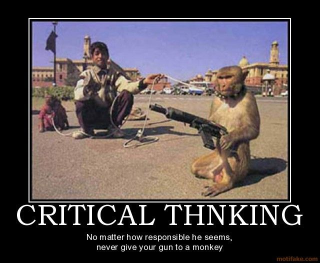 demotivational poster CRITICAL THNKING