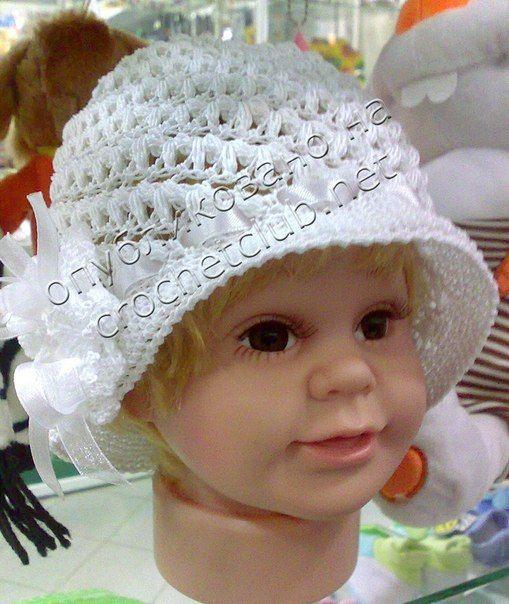 Delicadezas en crochet Gabriela: Gorra de niña