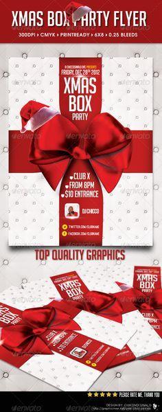 Xmas Box Flyer Template - Holidays Events