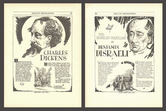 Charles Dickens Art Benjamin Disraeli History by DigitalArtLand