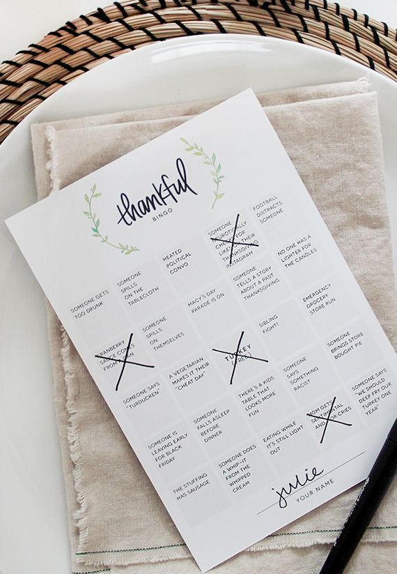 did anyone else just realize thanksgiving is next week?! maybe it's just me. i'm super bad at calendars. if you're looking to spice up your thanksgiving this year, i'm sharing this free printable f...