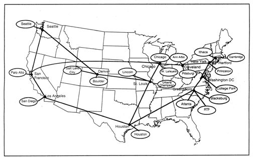 NSFNet Backbone, 1992
