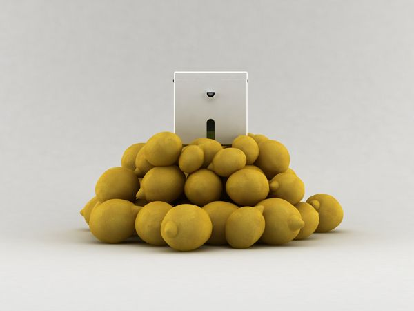 lemon cube squeezer by Edward Nasrawi, via Behance