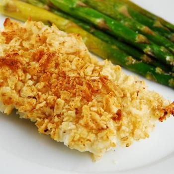 Salt and vinegar chip crusted fish