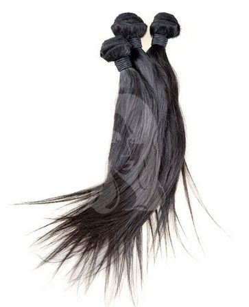 Tissages brésiliens lisses par lot de 3 paquets 100% cheveux humains de qualité Remy Hair. Livraison gratuite.