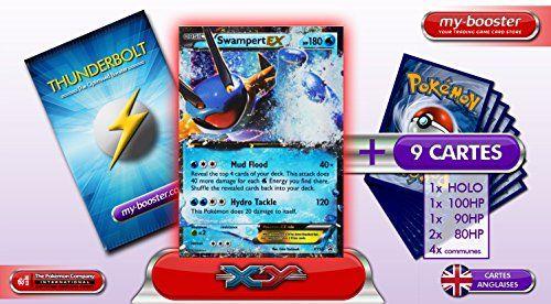 SWAMPERT EX (Laggron) XY55 (PROMO) 180HP XY06 – Booster optimisé ATTAQUE ECLAIR de 10 cartes pokemon Anglaises: Booster de 10 cartes…