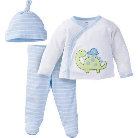 261ad9775 Gerber Newborn Baby Boy Take-Me-Home Outfit Set