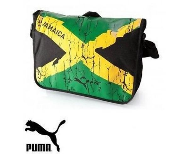 Puma Jamaica Crack Effect Messenger Cross Body Shoulder  Bag Usain Bolt Pride