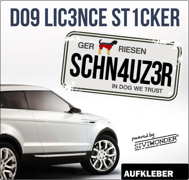 Auto Aufkleber RIESENSCHNAUZER  Kennzeichen Licence Hund Hunde by SIVIWONDER