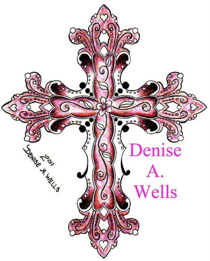 Bing feminine cross tattoos tattoos pinterest for Elegant cross tattoo designs