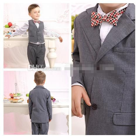 Awesome Custom Made Handsome Fashion boy dress suit han edition host dress little boy suit