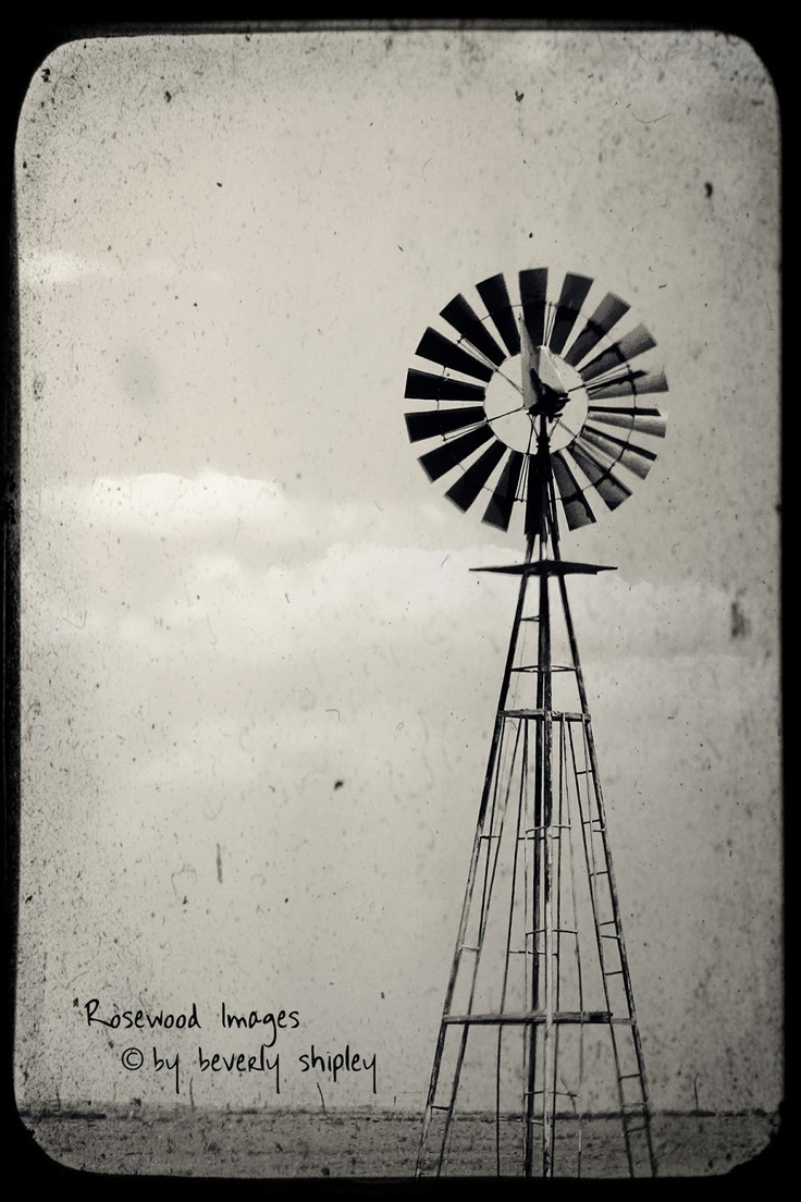 Wees geduldig wall sticker fun walls - Windpump Near Clayton New Mexico Rosewood Images By Beverly Shipley