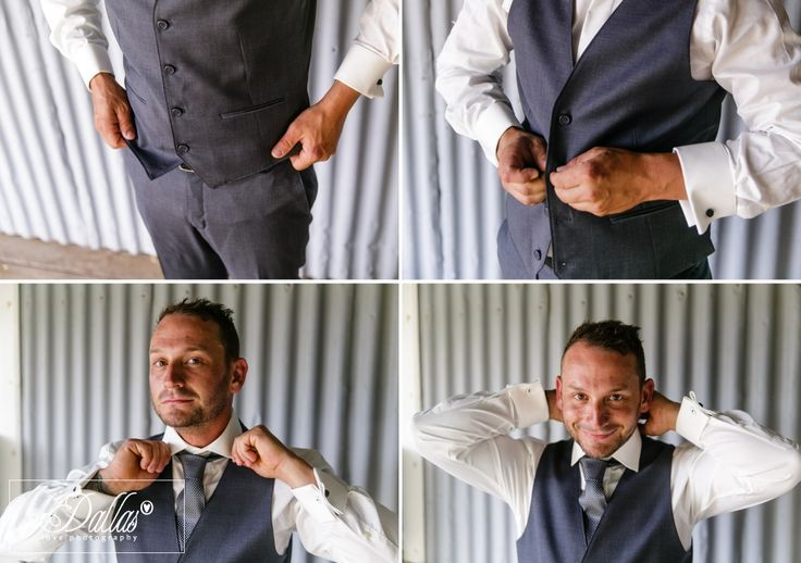 Rustic wedding with groom getting ready for ceremony http://dallaslovephotography.com/?p=13657