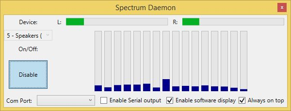Making an Audio Spectrum analyzer with Bass.dll, C# and Arduino - CodeProject