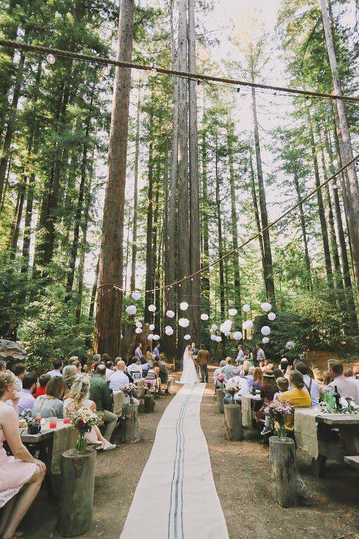 #redwoods #wedding   Set Designers: @donm @alyssameredith @dougmahergolfs  Venue: Camp Navarro  Photographer: @aimandarrow  Dress: #MBrideLaJolla