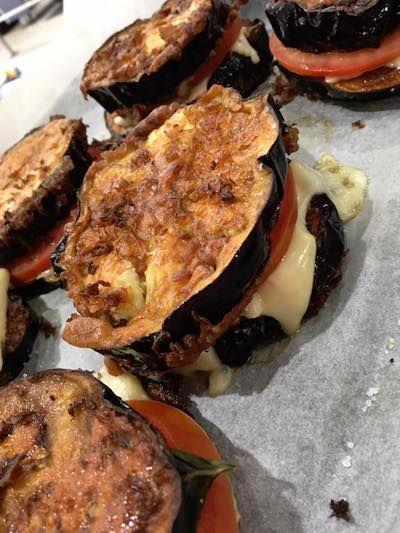 Eggplant Sandwiches! Bonus recipe included. Click on the pin!
