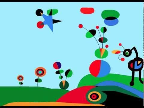 Miró animated painting