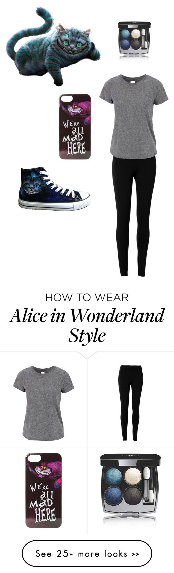 """Cheshire Cat"" by vlhuerta on Polyvore featuring Converse, Max Studio, Chanel and Disney"