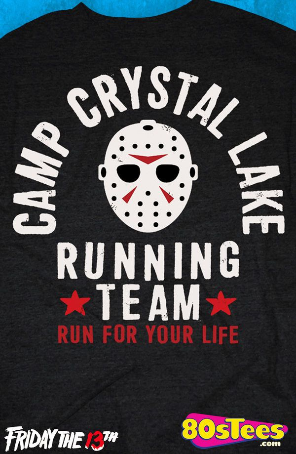 Camp Crystal Lake Running Team T-Shirt: Friday the 13th Mens T-Shirt With great artistic design and illustration this popular men's fashion will give a boost to your men's fashion t-shirt collection.