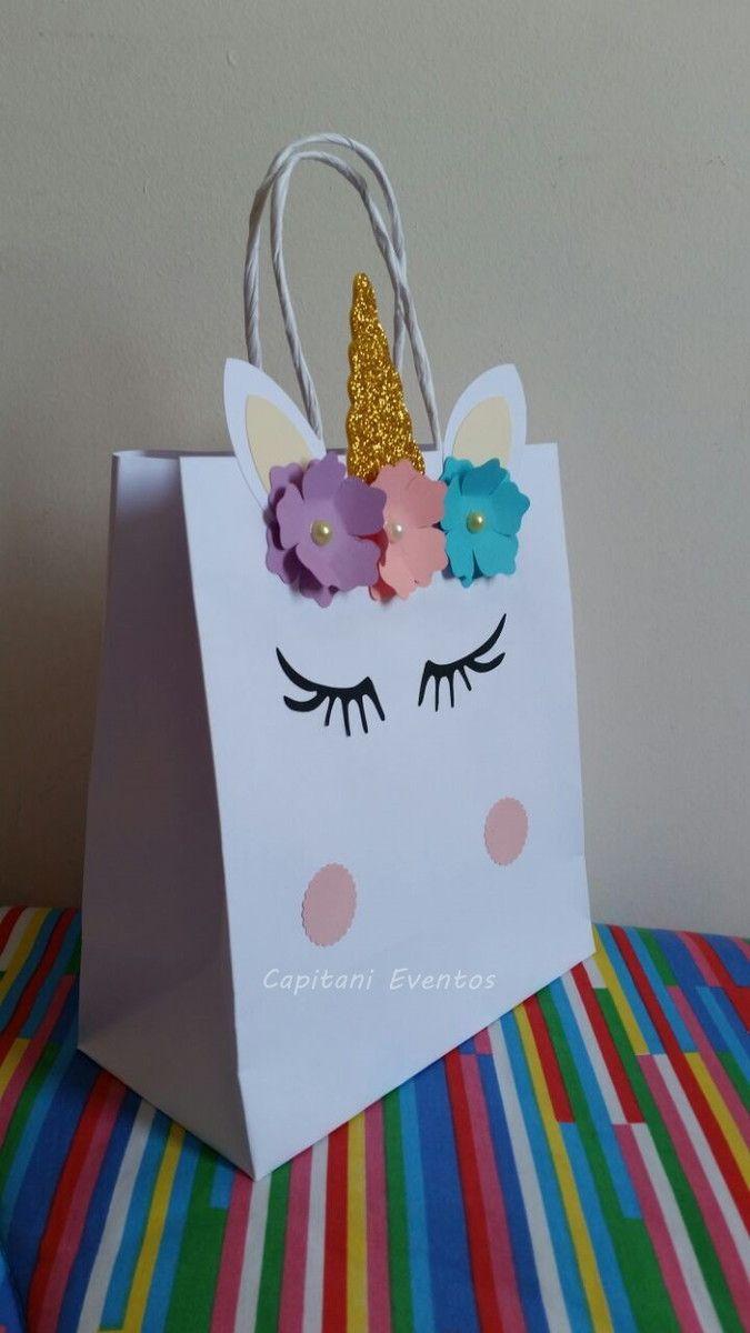 Sacola Unicórnio M Mundo Colorido Crafts Em 2019 Unicorn