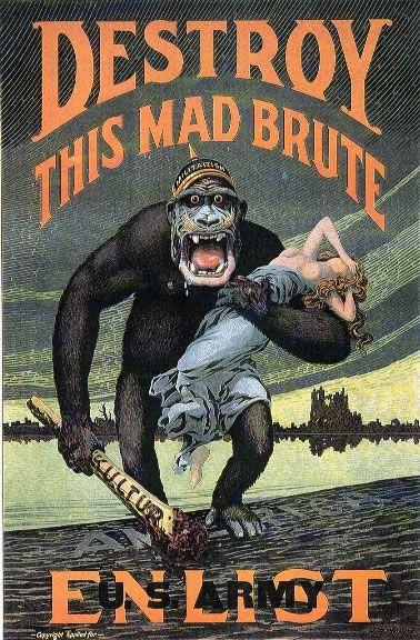 "US propaganda/recruitment poster. Note the ""Kultur"" on the club."