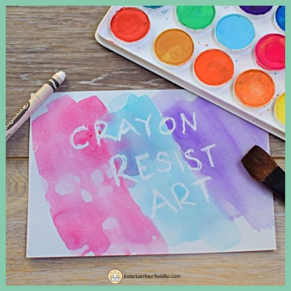 Crayon Resist Art: Painting Activity for Kids