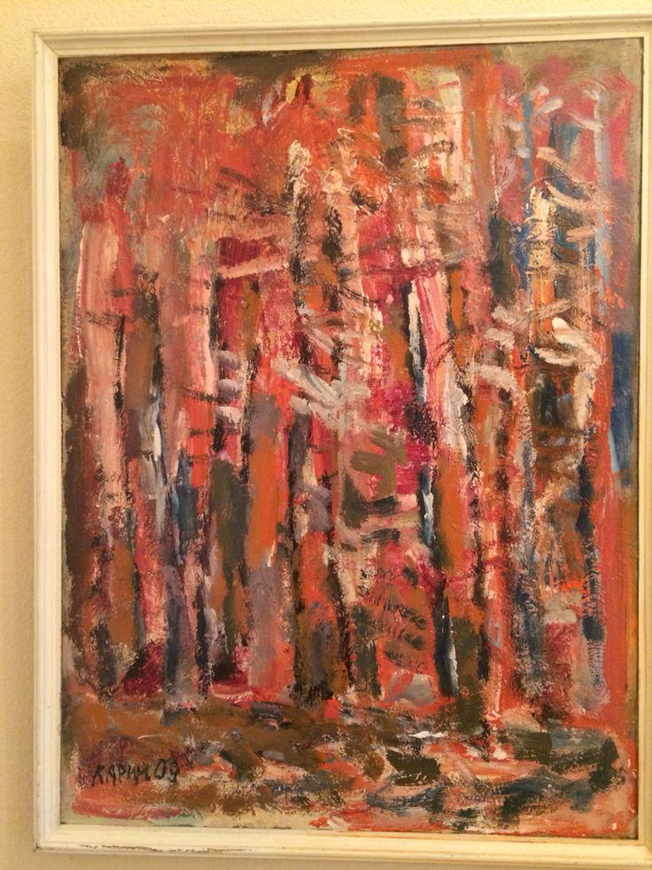 "Karimullin Ravkat 2009. Oil on canvas 90/100 cm. "" Forest """