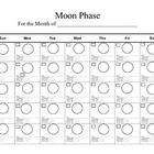 Want to track the phases of the moon for a month?  Use this blank calender to record data for month then look for patterns in the passes of the moo...