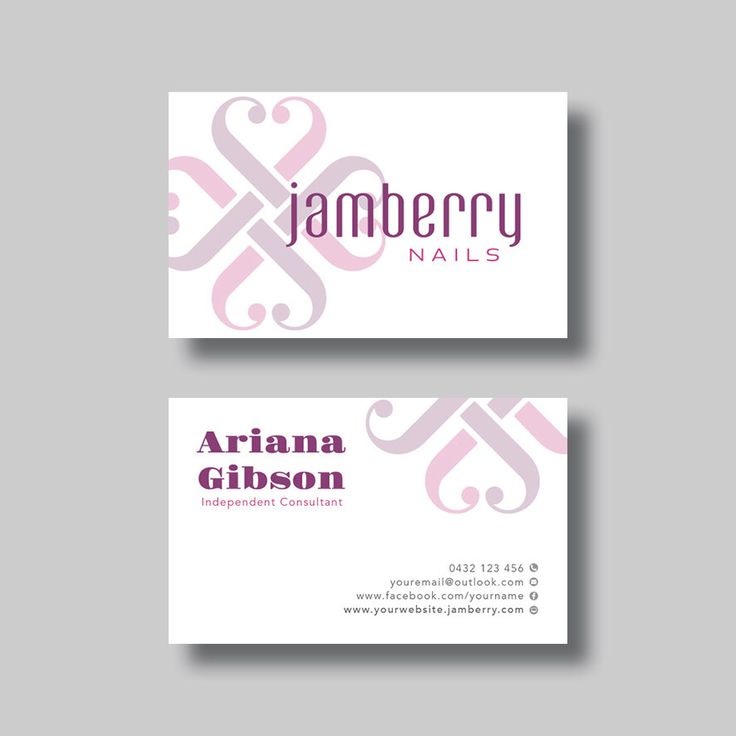 Jamberry Nails Business Card (Simplicity) - Digital Design by BellGraphicDesigns on Etsy https://www.etsy.com/au/listing/400529887/jamberry-nails-business-card-simplicity