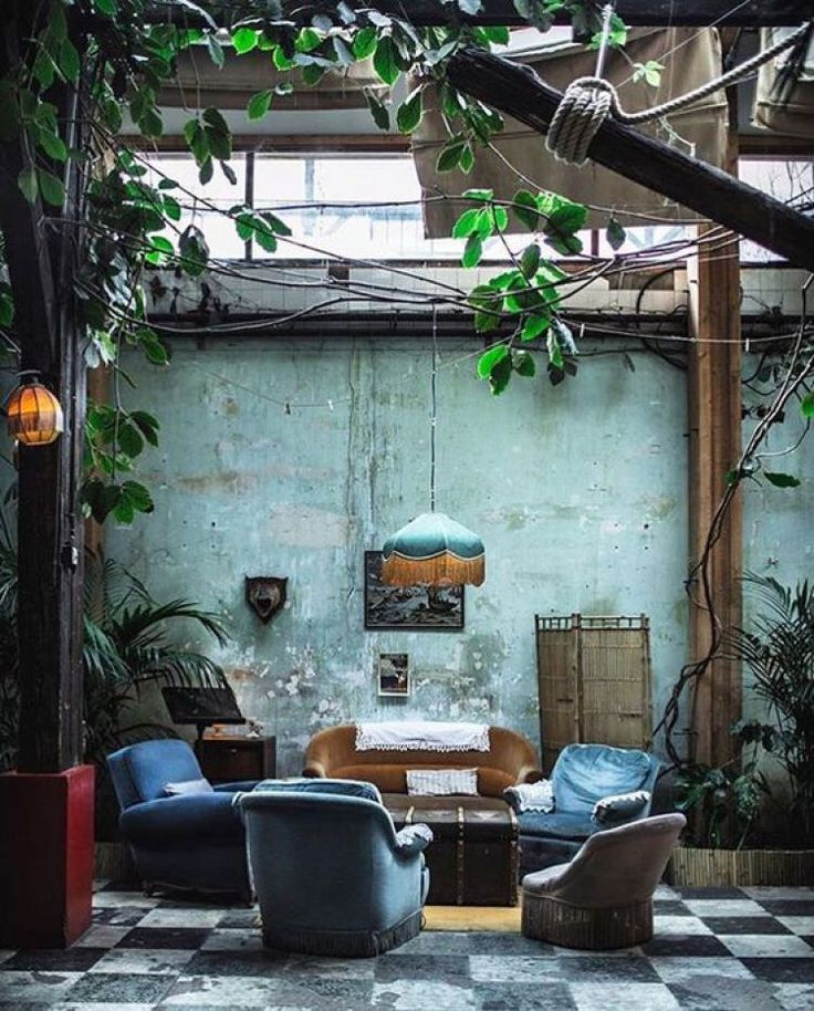 sun filled atrium or glassed-over courtyard. HOW TO DO BOHO – Abigail Ahern