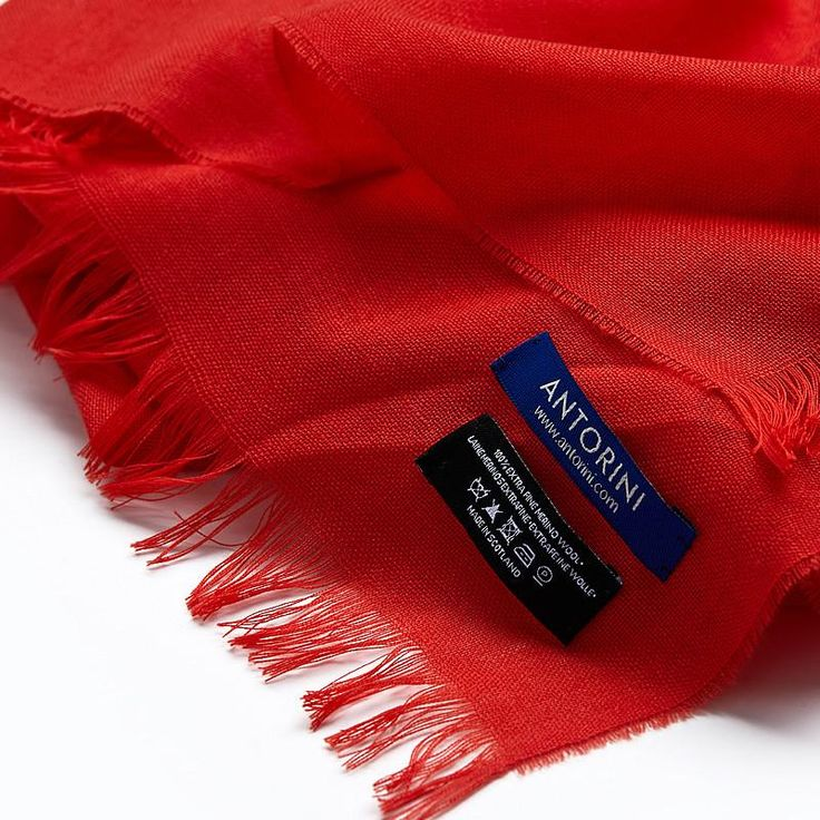 Merino Wool Scarf in Tomato