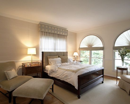 Spaces draperies and window treatments design pictures for Interior design window behind bed
