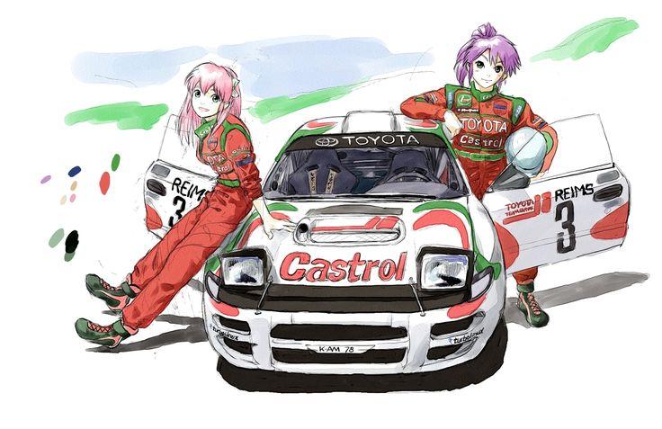 Manga rally car