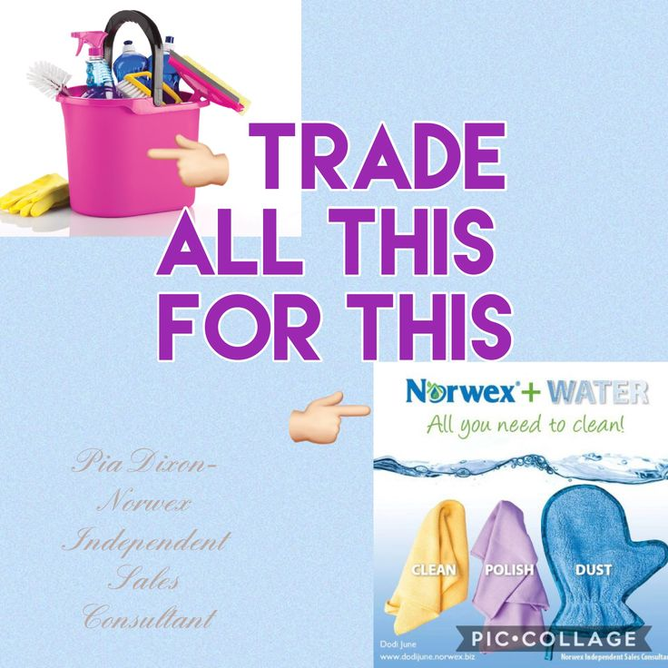 Norwex cleaning with just water www.piadixon.norwex.biz