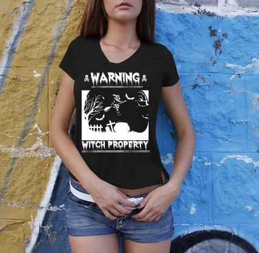 """Warning Witch Property T-shirts  ** NOT AVAILABLE IN STORES **  Limited Edition """"Warning Witch Property"""" man's/women's tees & hoodies available now!  When you press the big green button, you will be able to choose your size(s).  Be sure to order before we run out of stock!  Halloween is coming for you!"""