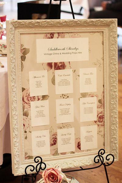 Vintage Sitzplan (Hochzeit,Geburtstag,Taufe) von Herzblut-Werkstatt auf DaWanda.com