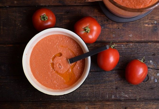 Hűsítő gazpacho