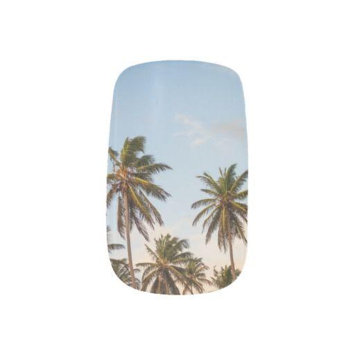 Palm Trees False Nails. Spring/Summer 2015 vacation holiday fashion
