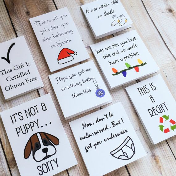 Funny Gift Tags Christmas Holiday Handmade by ArtfulCreationsByDeb