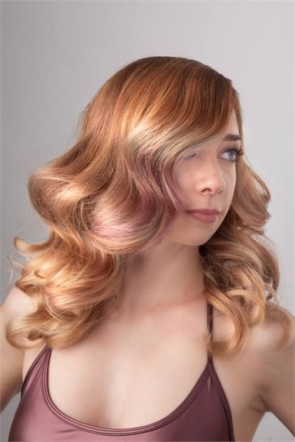 This beautiful model Morgan was colored by our student Lauren Usher for a Trend Vision competion of which she placed nationally and represented CAofB!  All Wella and all inspired using hair as here medium. Photography by Matthew Schutter