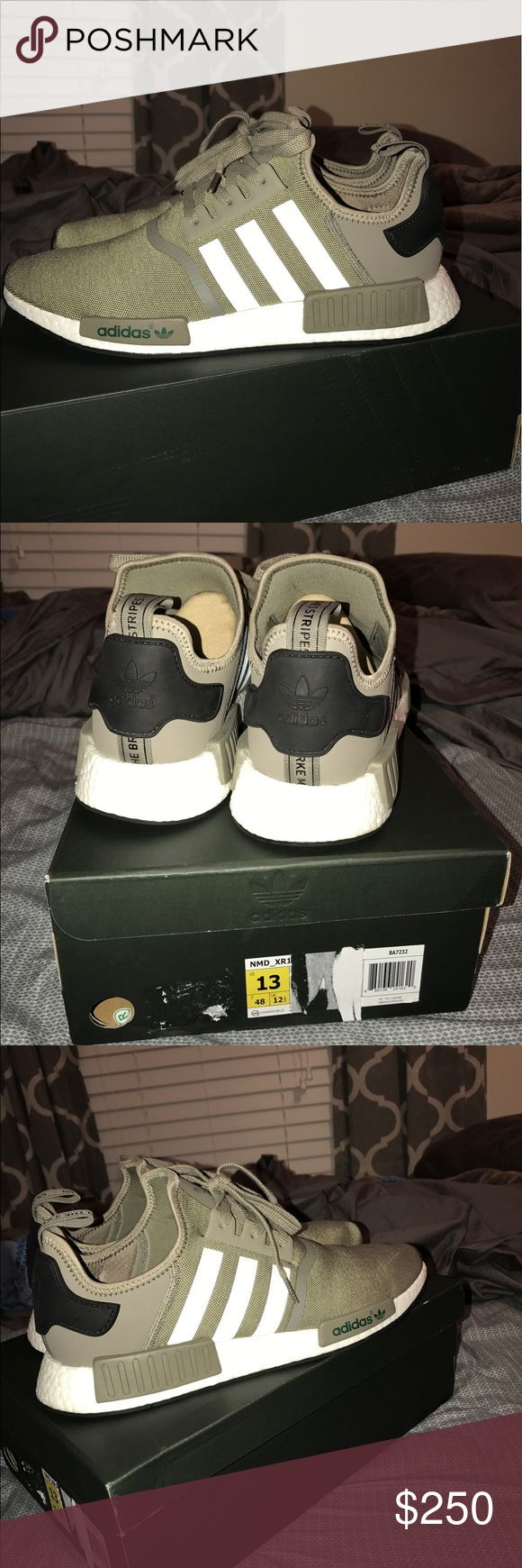 Adidas NMD Olive Green Flawless shoe. Worn out once. Great condition! CANT BUY IN STORES or ONLINE. Willing to negotiate, But only for a far price. Adidas Shoes Sneakers
