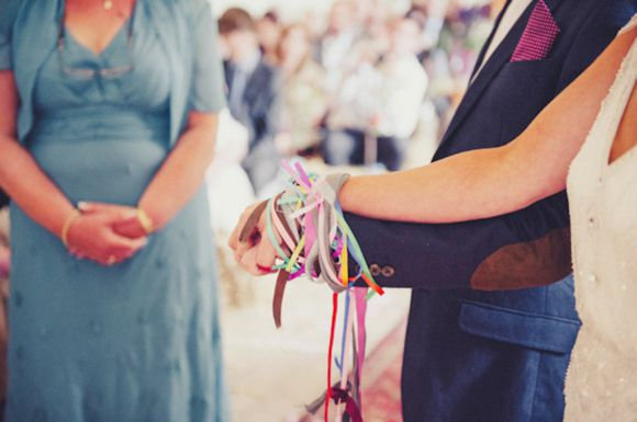 Jenny Packham's Eden For a DIY and Vintage Inpsired, Humanist Hand-Fasting Ceremony in Devon...