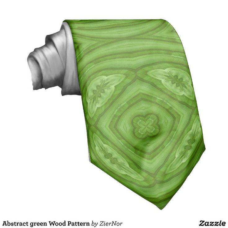Abstract green Wood Pattern Neckwear