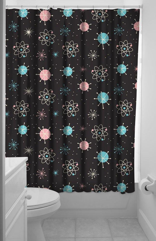 Sputnik Shower Curtain