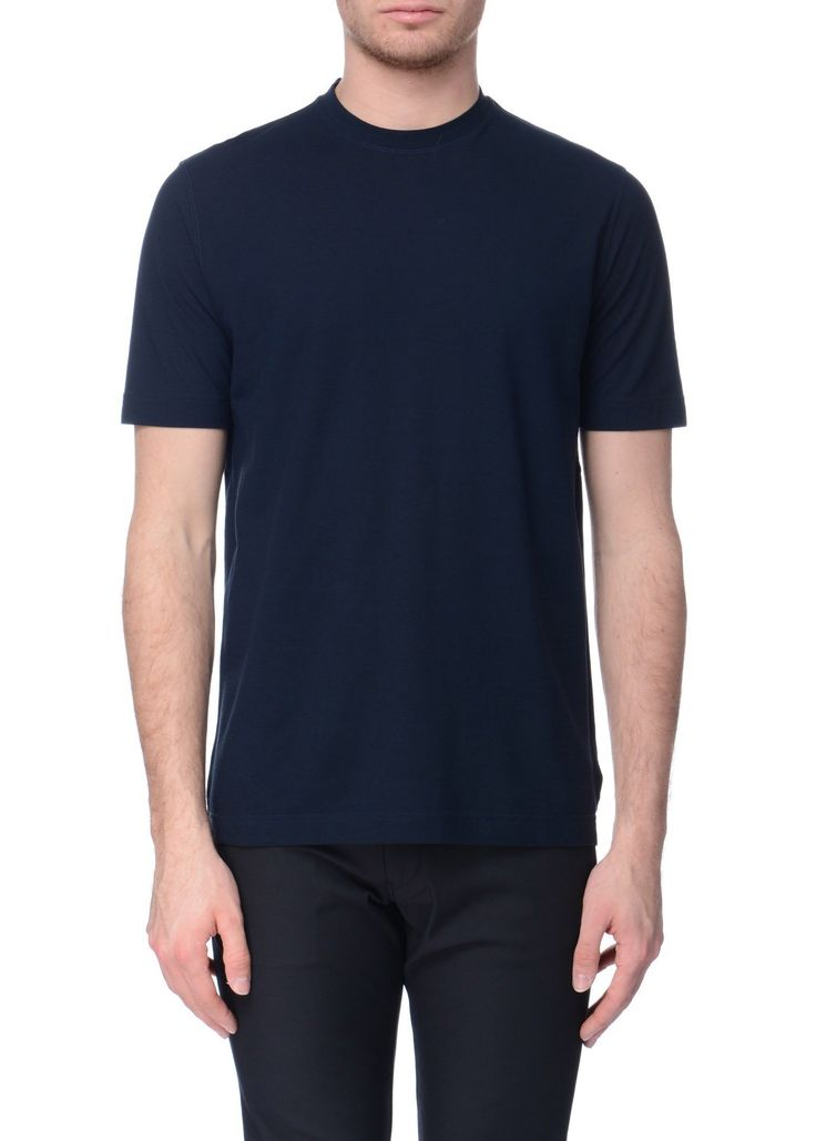 Zanone - SS17 - Menswear // Navy t-shirt in cotton