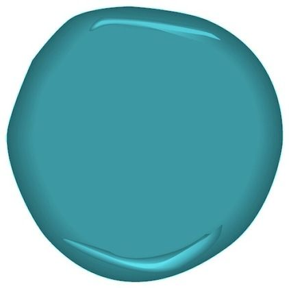 """""""In the tropics"""" almost turquoise but not quite, and kinda perfect. - Paints Stains And Glazes by Benjamin Moore"""